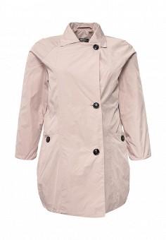 Плащ, Ulla Popken, цвет: розовый. Артикул: UL002EWPRS00. Женская одежда / Верхняя одежда / Плащи и тренчкоты