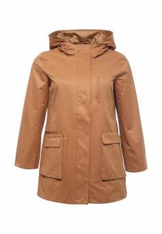 Плащ, Ulla Popken, цвет: коричневый. Артикул: UL002EWPRS13. Женская одежда / Верхняя одежда / Плащи и тренчкоты