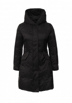 Пуховик, United Colors of Benetton, цвет: черный. Артикул: UN012EWKTV14. Женская одежда / Верхняя одежда / Пуховики и зимние куртки