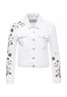 Куртка джинсовая, Urban Bliss, цвет: белый. Артикул: UR007EWSQO34. Женская одежда / Верхняя одежда / Джинсовые куртки