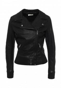 Куртка кожаная, Urban Bliss, цвет: черный. Артикул: UR007EWSQO54. Женская одежда / Верхняя одежда / Косухи