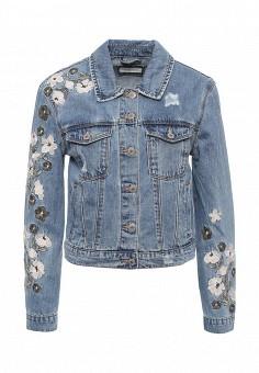 Куртка джинсовая, Urban Bliss, цвет: голубой. Артикул: UR007EWSQO55. Женская одежда / Верхняя одежда / Джинсовые куртки