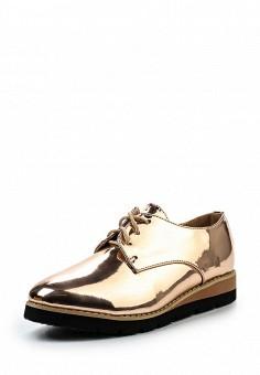 Ботинки, VH, цвет: золотой. Артикул: VH001AWSOA83. Женская обувь / Ботинки / Низкие ботинки