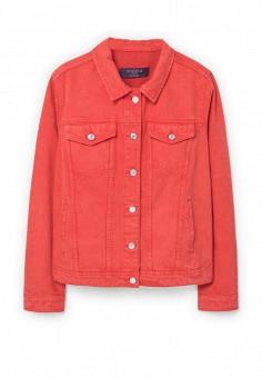 Куртка джинсовая, Violeta by Mango, цвет: красный. Артикул: VI005EWRAB00. Женская одежда / Верхняя одежда / Джинсовые куртки