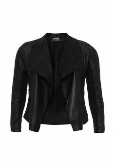 Куртка кожаная, Wallis, цвет: черный. Артикул: WA007EWPEQ43. Женская одежда / Верхняя одежда / Кожаные куртки