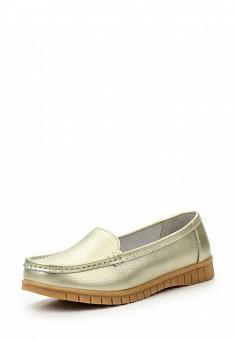 Мокасины, Wilmar, цвет: золотой. Артикул: WI064AWRCE18. Женская обувь / Мокасины и топсайдеры