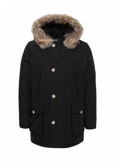 Пуховик, Woolrich, цвет: черный. Артикул: WO256EMUPH56. Мужская одежда / Верхняя одежда / Пуховики и зимние куртки