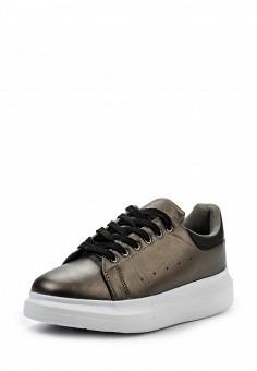 Кеды, WS Shoes, цвет: серый. Артикул: WS002AWRSS42. Женская обувь / Кроссовки и кеды