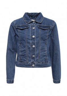Куртка джинсовая, Zarina, цвет: синий. Артикул: ZA004EWSAN71. Женская одежда / Верхняя одежда / Джинсовые куртки