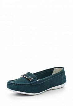 Мокасины, Zenden Comfort, цвет: бирюзовый. Артикул: ZE011AWHGN36. Женская обувь / Мокасины и топсайдеры