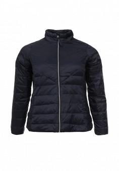 Пуховик, Zizzi, цвет: синий. Артикул: ZI007EWSAH63. Женская одежда / Верхняя одежда / Пуховики и зимние куртки