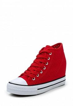 Кеды на танкетке, Zona3, цвет: красный. Артикул: ZO004AWQVC79. Женская обувь / Кроссовки и кеды / Кеды