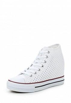 Кеды на танкетке, Zona3, цвет: белый. Артикул: ZO004AWQVC80. Женская обувь / Кроссовки и кеды / Кеды
