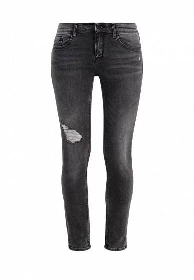 Джинсы Mid Rise Skinny Ankle Slit -Intense Black Dest