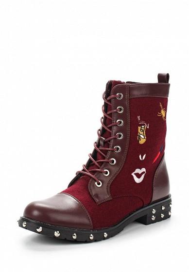 Купить Ботинки Ideal Shoes бордовый ID005AWVUG95 Китай