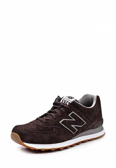 Кроссовки New Balance ML574 коричневый NE007AMJA762 Вьетнам  - купить со скидкой
