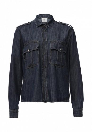 Рубашка джинсовая Rinascimento синий RI005EWKHB76 Италия  - купить со скидкой