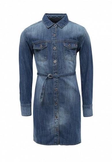 Платье джинсовое Tommy Hilfiger синий TO263EGSVT26  - купить со скидкой