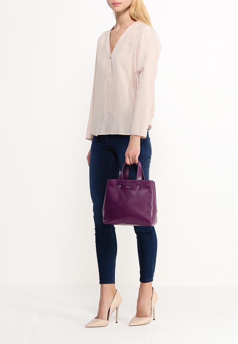 Вместительная женская сумка из натуральной сафьяновой