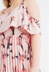 Платье LOST INK PLUSPLEATED HEM DRESS IN FLOWER FAN PRINT
