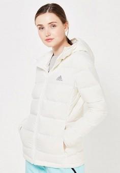 Пуховик, adidas Performance, цвет: белый. Артикул: AD094EWUOG60. Женская одежда / Верхняя одежда / Пуховики и зимние куртки