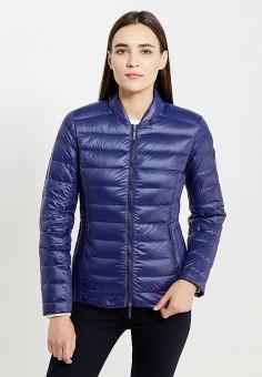 Пуховик, Armani Exchange, цвет: синий. Артикул: AR037EWTLI25. Премиум / Одежда / Верхняя одежда / Пуховики и зимние куртки