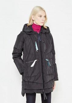 Пуховик, Armani Jeans, цвет: черный. Артикул: AR411EWTYA44. Премиум / Одежда / Верхняя одежда / Пуховики и зимние куртки