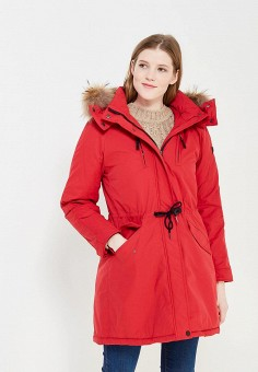 Парка, Baon, цвет: красный. Артикул: BA007EWWAO92. Женская одежда / Верхняя одежда / Парки