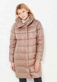 Пуховик, Baon, цвет: бежевый. Артикул: BA007EWWAQ17. Женская одежда / Верхняя одежда / Пуховики и зимние куртки / Длинные пуховики и куртки