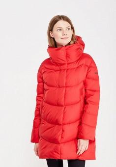 Пуховик, Baon, цвет: красный. Артикул: BA007EWWAQ59. Женская одежда / Верхняя одежда / Пуховики и зимние куртки