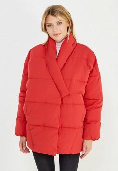 Пуховик, Baon, цвет: красный. Артикул: BA007EWWAQ60. Женская одежда / Верхняя одежда / Пуховики и зимние куртки