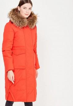 Пуховик, Baon, цвет: красный. Артикул: BA007EWWAQ62. Женская одежда / Верхняя одежда / Пуховики и зимние куртки / Длинные пуховики и куртки