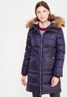 Пуховик, Baon, цвет: синий. Артикул: BA007EWWAQ84. Женская одежда / Верхняя одежда / Пуховики и зимние куртки / Длинные пуховики и куртки