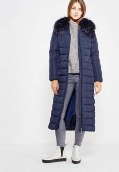 Пуховик, Baon, цвет: синий. Артикул: BA007EWWAR01. Женская одежда / Верхняя одежда / Пуховики и зимние куртки / Длинные пуховики и куртки