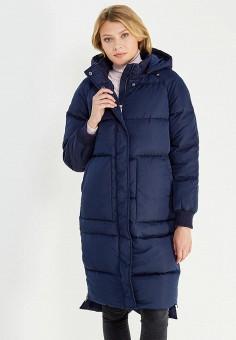 Пуховик, Baon, цвет: синий. Артикул: BA007EWWAR08. Женская одежда / Верхняя одежда / Пуховики и зимние куртки / Длинные пуховики и куртки