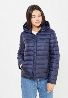 Пуховик, Baon, цвет: синий. Артикул: BA007EWWAR21. Женская одежда / Верхняя одежда / Пуховики и зимние куртки