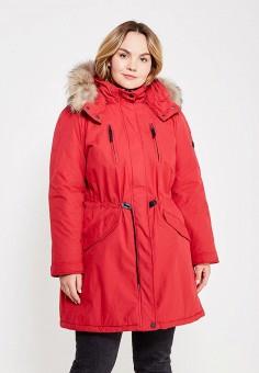 Парка, Baon, цвет: красный. Артикул: BA007EWYRG31. Женская одежда / Верхняя одежда / Парки