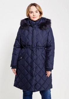 Пуховик, Baon, цвет: синий. Артикул: BA007EWYRG37. Женская одежда / Верхняя одежда / Пуховики и зимние куртки / Длинные пуховики и куртки