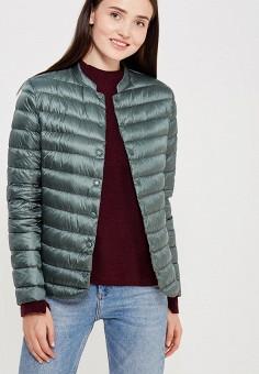 Куртка утепленная, Befree, цвет: зеленый. Артикул: BE031EWUXN88. Женская одежда / Верхняя одежда / Пуховики и зимние куртки