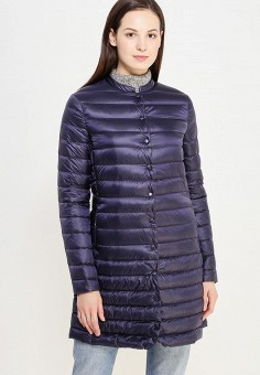 Пуховик, Befree, цвет: синий. Артикул: BE031EWUXN93. Женская одежда / Верхняя одежда / Пуховики и зимние куртки