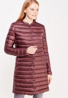Пуховик, Befree, цвет: бордовый. Артикул: BE031EWUXN96. Женская одежда / Верхняя одежда / Пуховики и зимние куртки