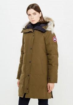 Пуховик, Canada Goose, цвет: хаки. Артикул: CA997EWVBM44. Премиум / Одежда / Верхняя одежда / Пуховики и зимние куртки