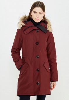 Пуховик, Canada Goose, цвет: бордовый. Артикул: CA997EWVBM67. Премиум / Одежда / Верхняя одежда