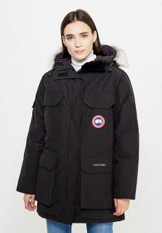 Пуховик, Canada Goose, цвет: черный. Артикул: CA997EWVBM69. Премиум / Одежда / Верхняя одежда / Пуховики и зимние куртки