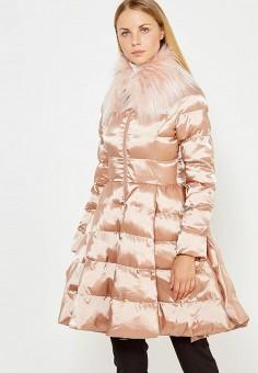 Куртка утепленная, Elisabetta Franchi, цвет: бежевый. Артикул: EL037EWUCW28. Премиум / Одежда / Верхняя одежда