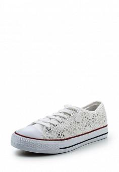 Кеды, Fashion & Bella, цвет: белый. Артикул: FA034AWSSF90. Женская обувь / Кроссовки и кеды