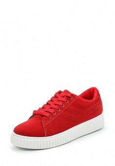 Кеды, Fashion & Bella, цвет: красный. Артикул: FA034AWVEV59. Женская обувь / Кроссовки и кеды