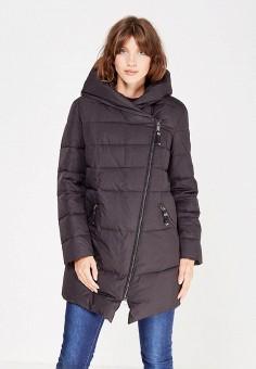Пуховик, Finn Flare, цвет: черный. Артикул: FI001EWUZU78. Женская одежда / Верхняя одежда / Пуховики и зимние куртки