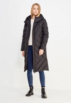 Пуховик, Finn Flare, цвет: черный. Артикул: FI001EWUZX92. Женская одежда / Верхняя одежда / Пуховики и зимние куртки