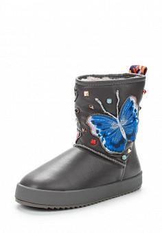 Полусапоги, Grand Style, цвет: серый. Артикул: GR025AWXPC85. Женская обувь / Сапоги